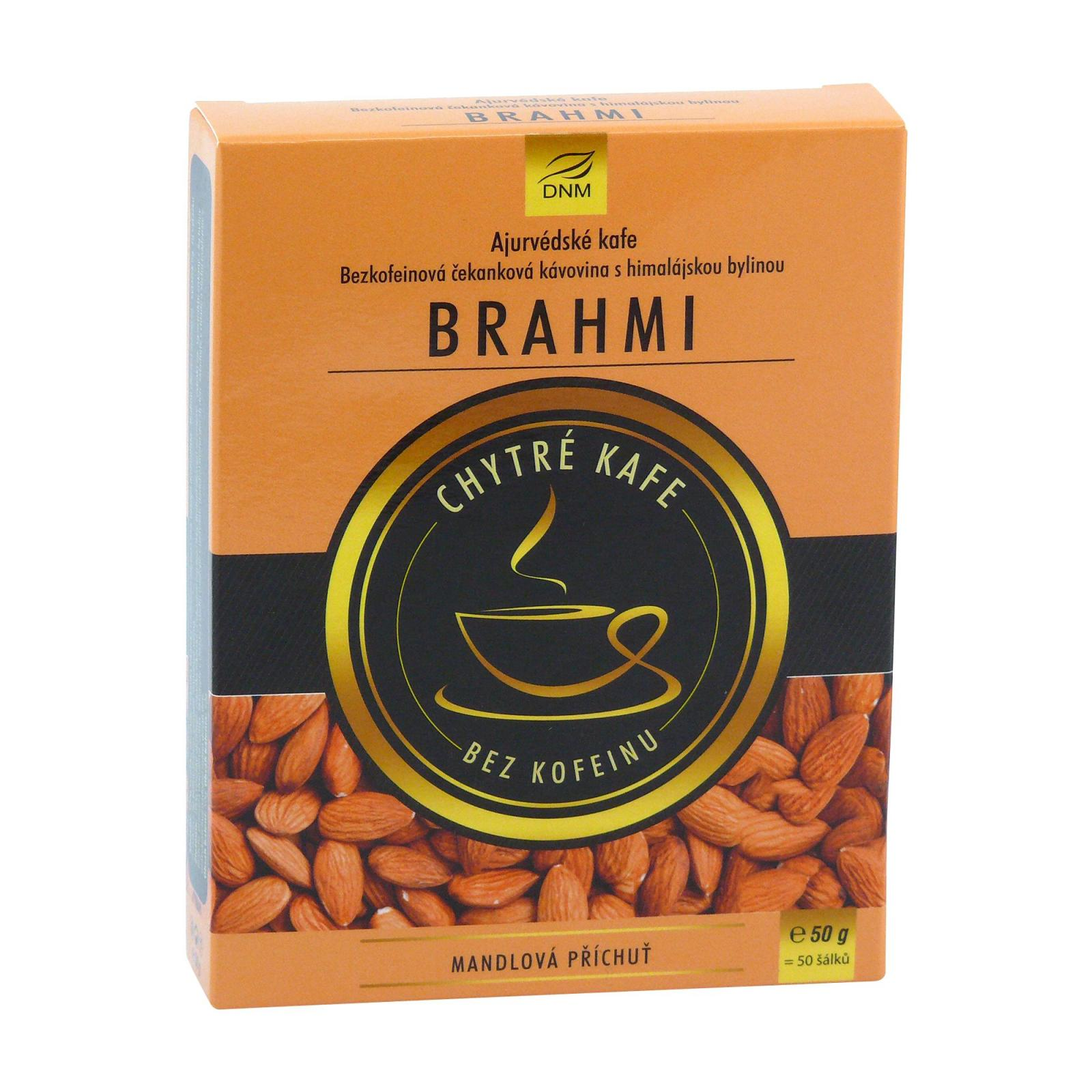 DNM Ájurvédské kafe Brahmi s příchutí mandlí 50 g