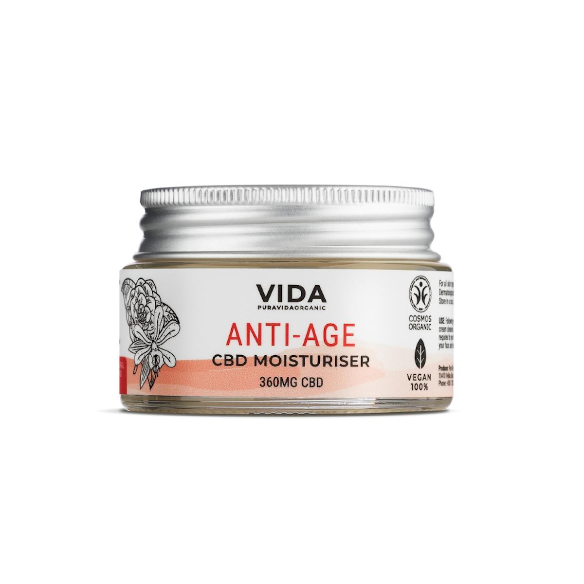 Pura Vida Organic CBD Hydratační krém, Anti-age, 360 mg 30 ml