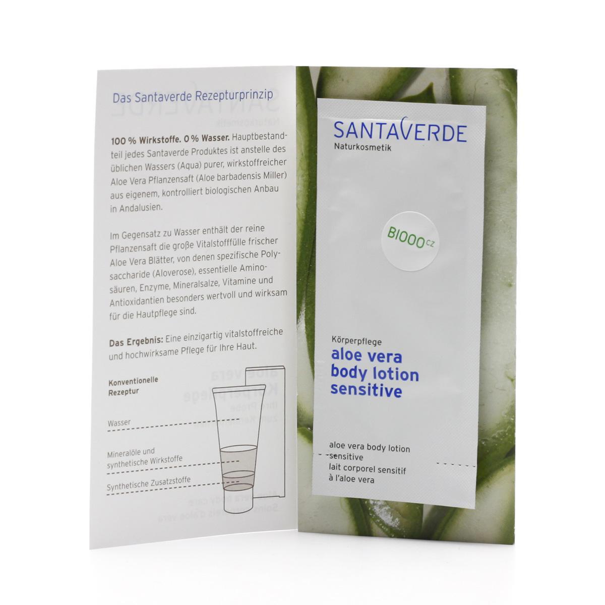 Santaverde Tělové mléko sensitive 5 ml