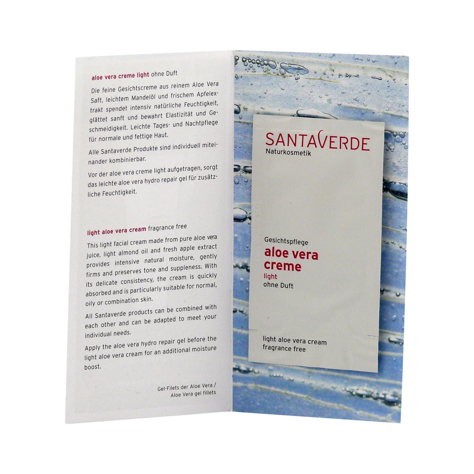 Santaverde Krém lehký, bez parfemace 2 ml