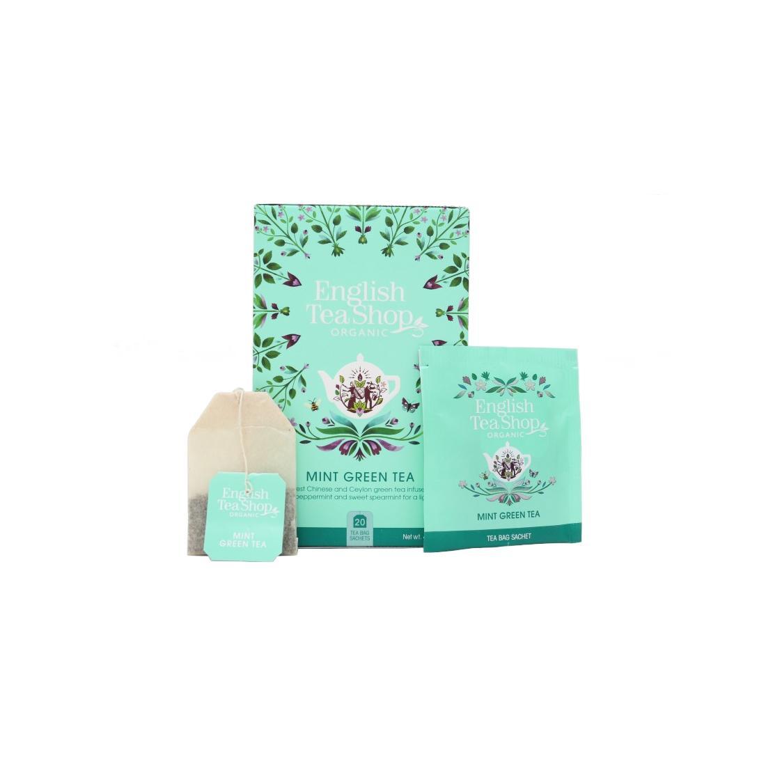English Tea Shop Zelený čaj s mátou, bio 40 g, 20 ks