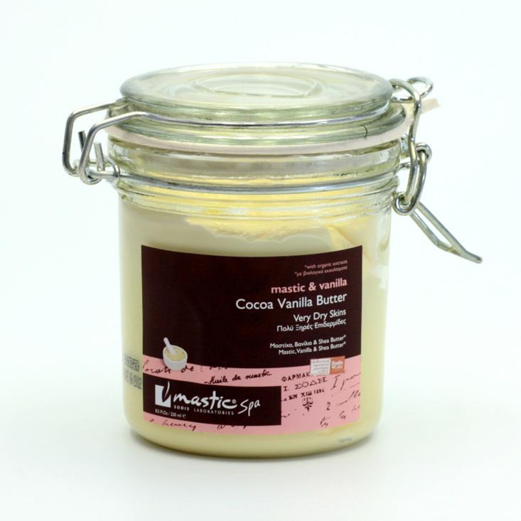 Mastic spa x Kakaové tělové máslo s vanilkou, Cocoa Vanilla Body Butter 250 ml