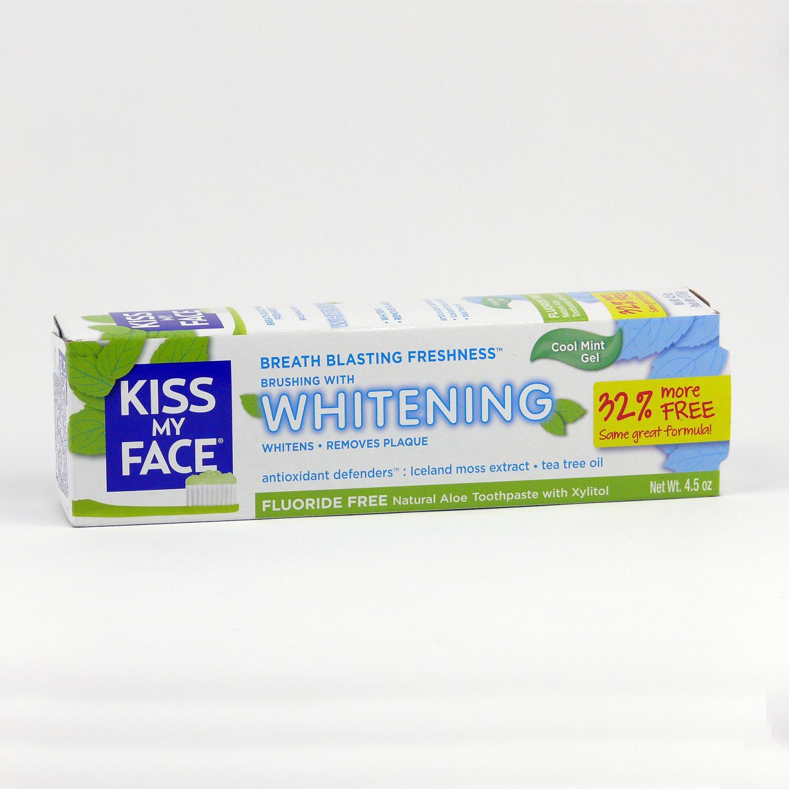 Kiss My Face Corp. Zubní gel Whitening, bez fluoridu 127,6 g