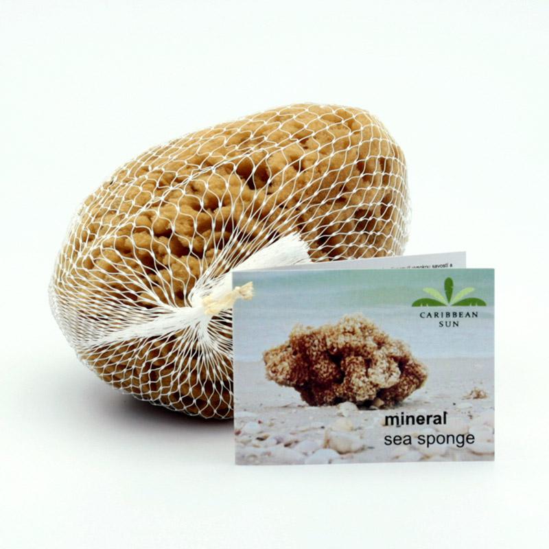 Caribbean Sun Mořská houba minerální hnědá, SLYBC 424 s provázkem 1 ks, 11-12 cm
