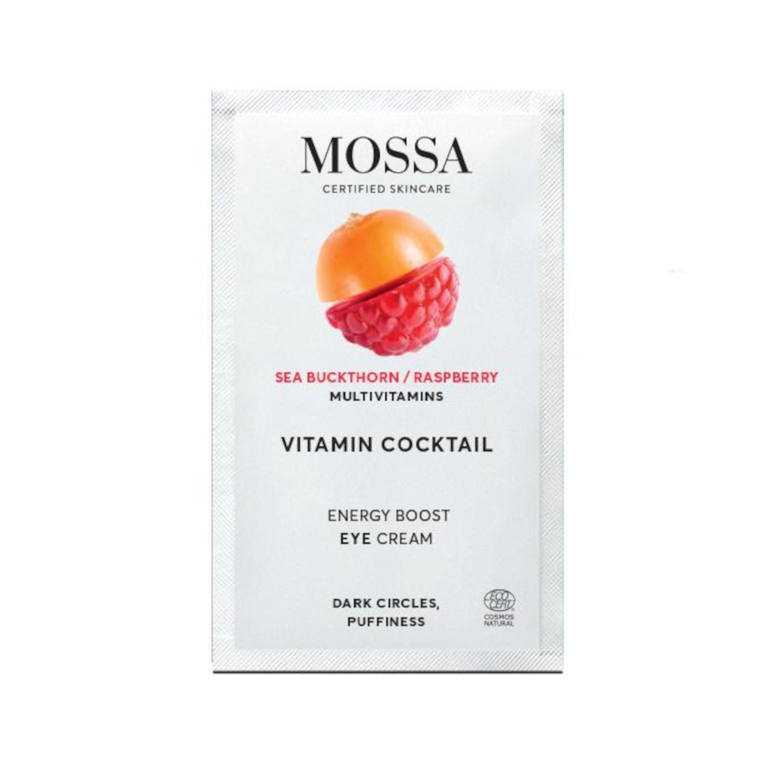 MOSSA Energizující intenzivní oční krém, Vitamínový koktejl 2 ml
