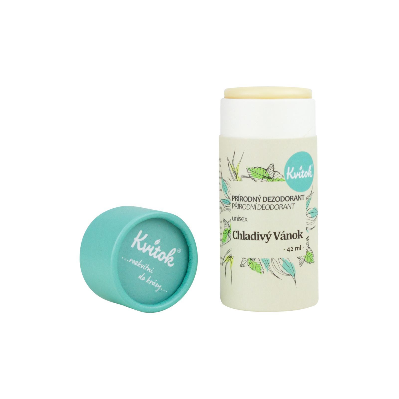 Kvitok Přírodní deodorant unisex, Chladivý vánek 42 ml