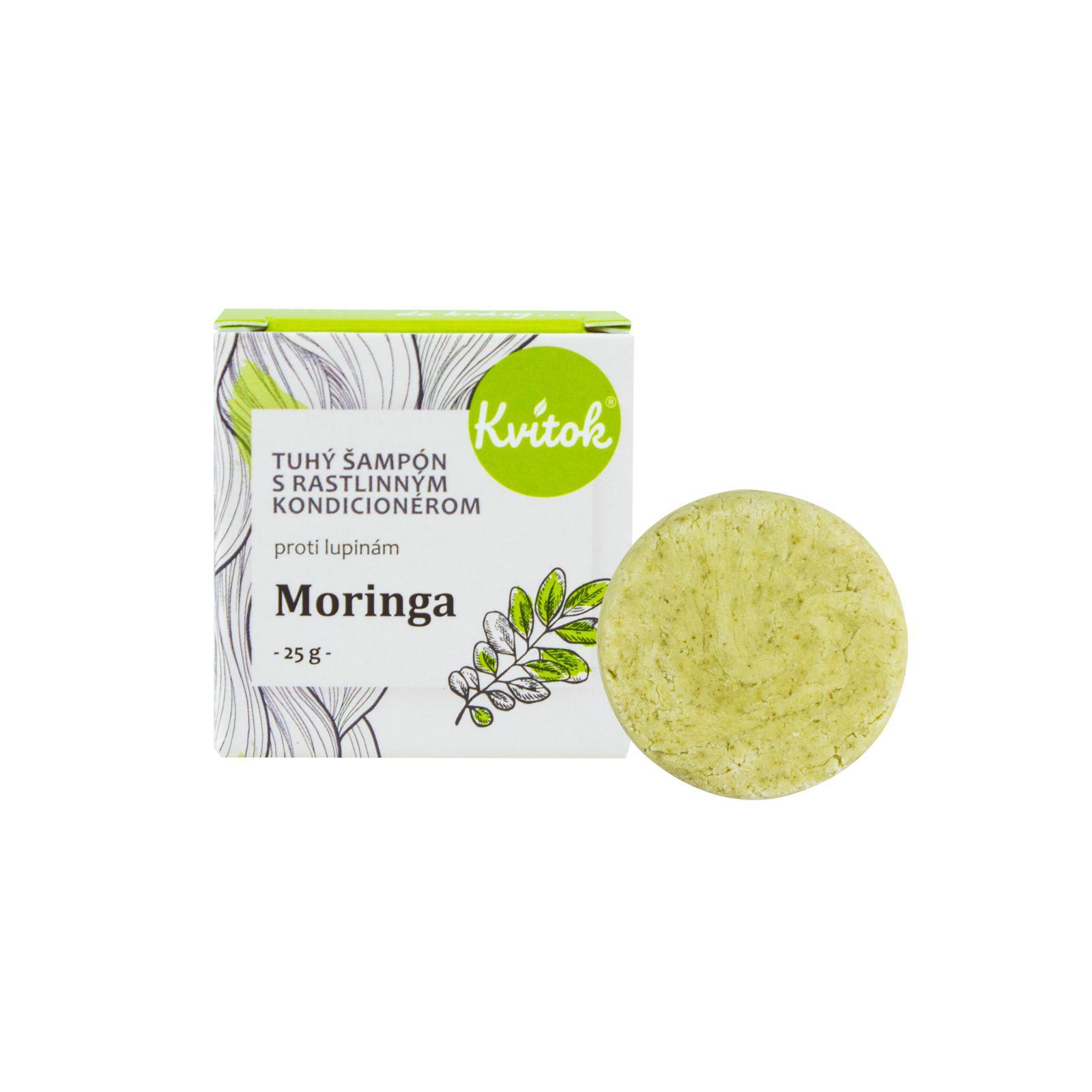 Navia/Kvitok Tuhý šampon s rostliným kondicionérem, Moringa 25 g