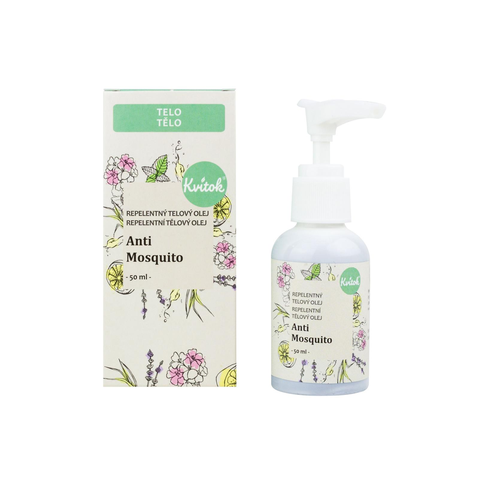 Kvitok Repelentní tělový olej, Anti mosquito 50 ml