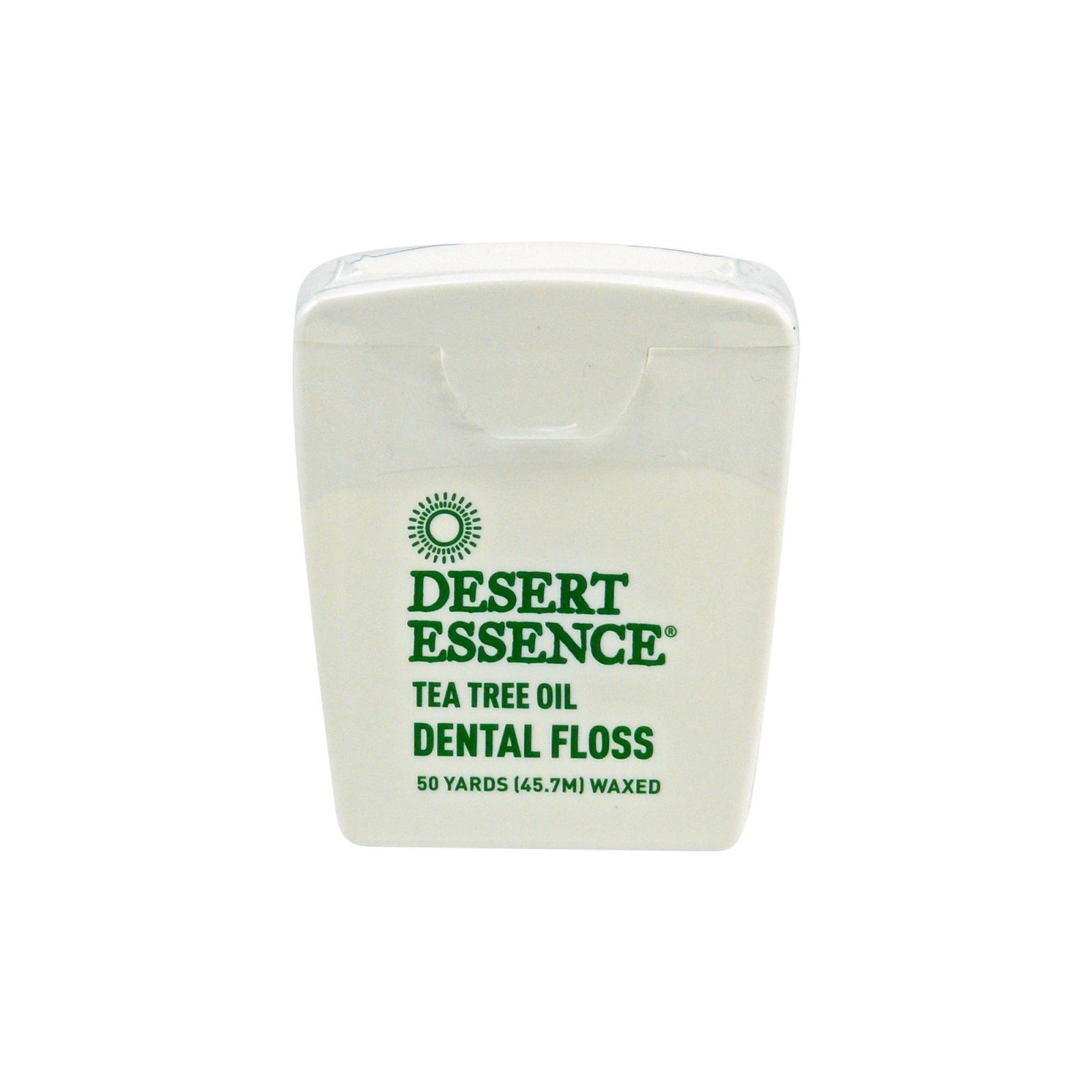 Desert Essence Dentální nit voskovaná s tea tree olejem 45,7 m