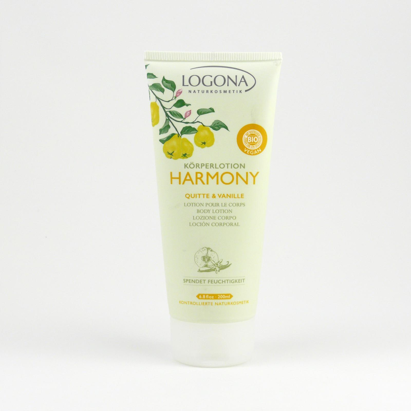 Logona Tělové mléko kdoule a vanilka, Harmony 200 ml