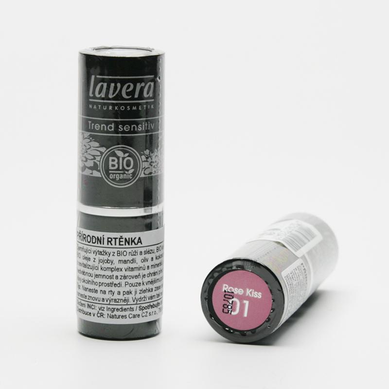Lavera Rtěnka 01 (15) růžový polibek, Trend Sensitive 4,5 g