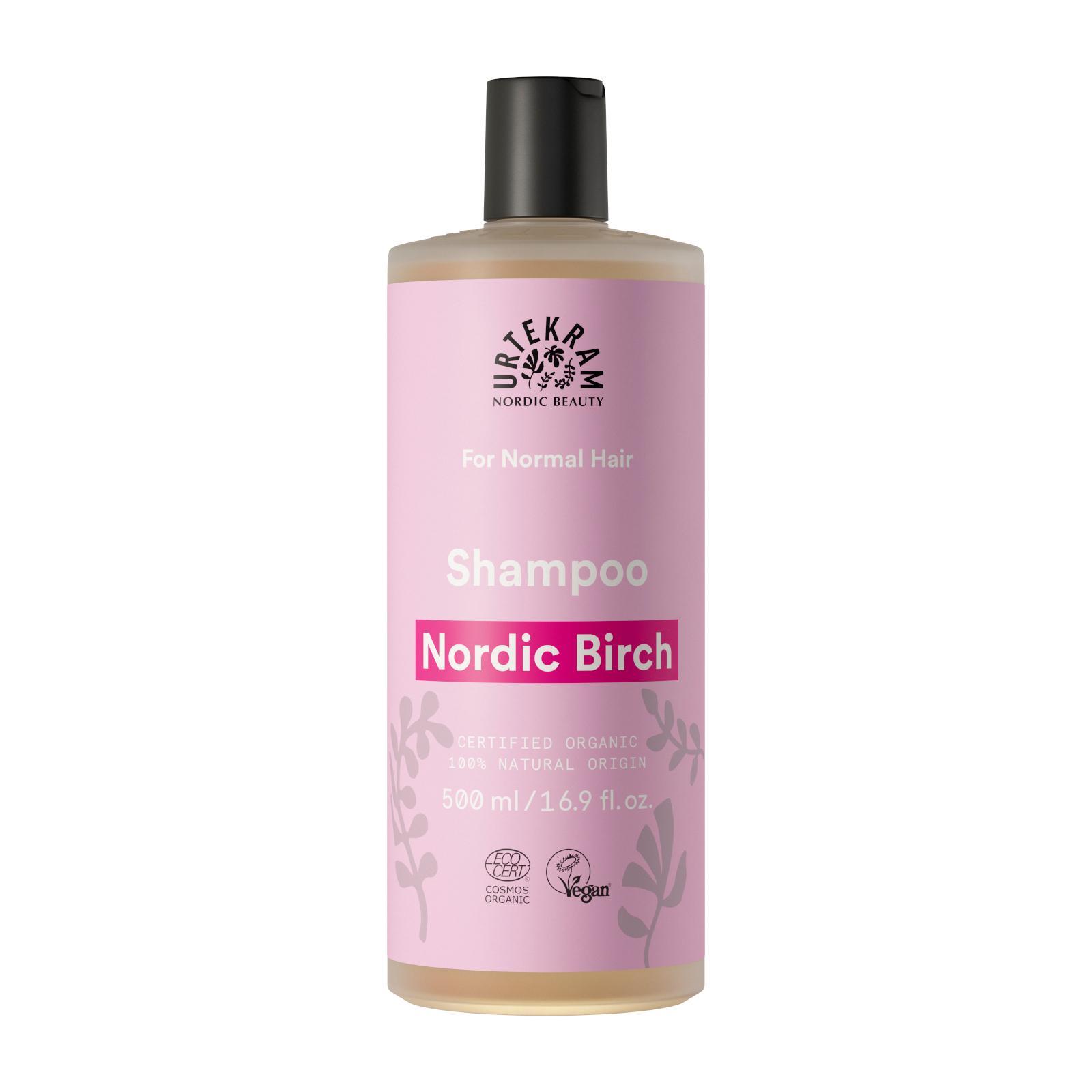 Urtekram Šampon na normání až mastné vlasy, Severská bříza 500 ml