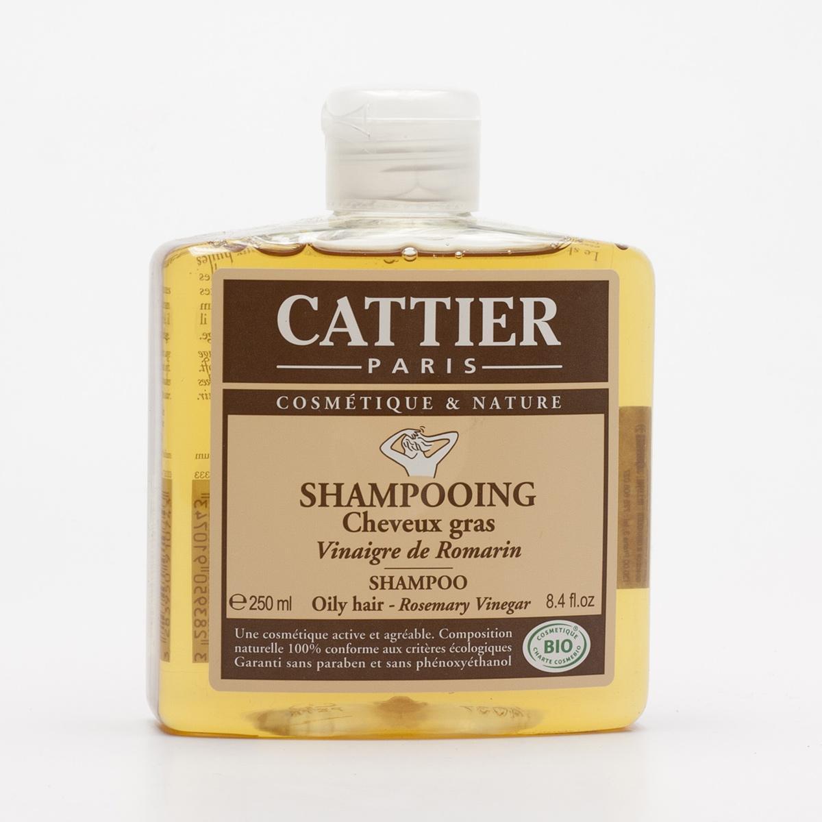 Cattier Šampon na mastné vlasy s rozmarýnovým octem 250 ml