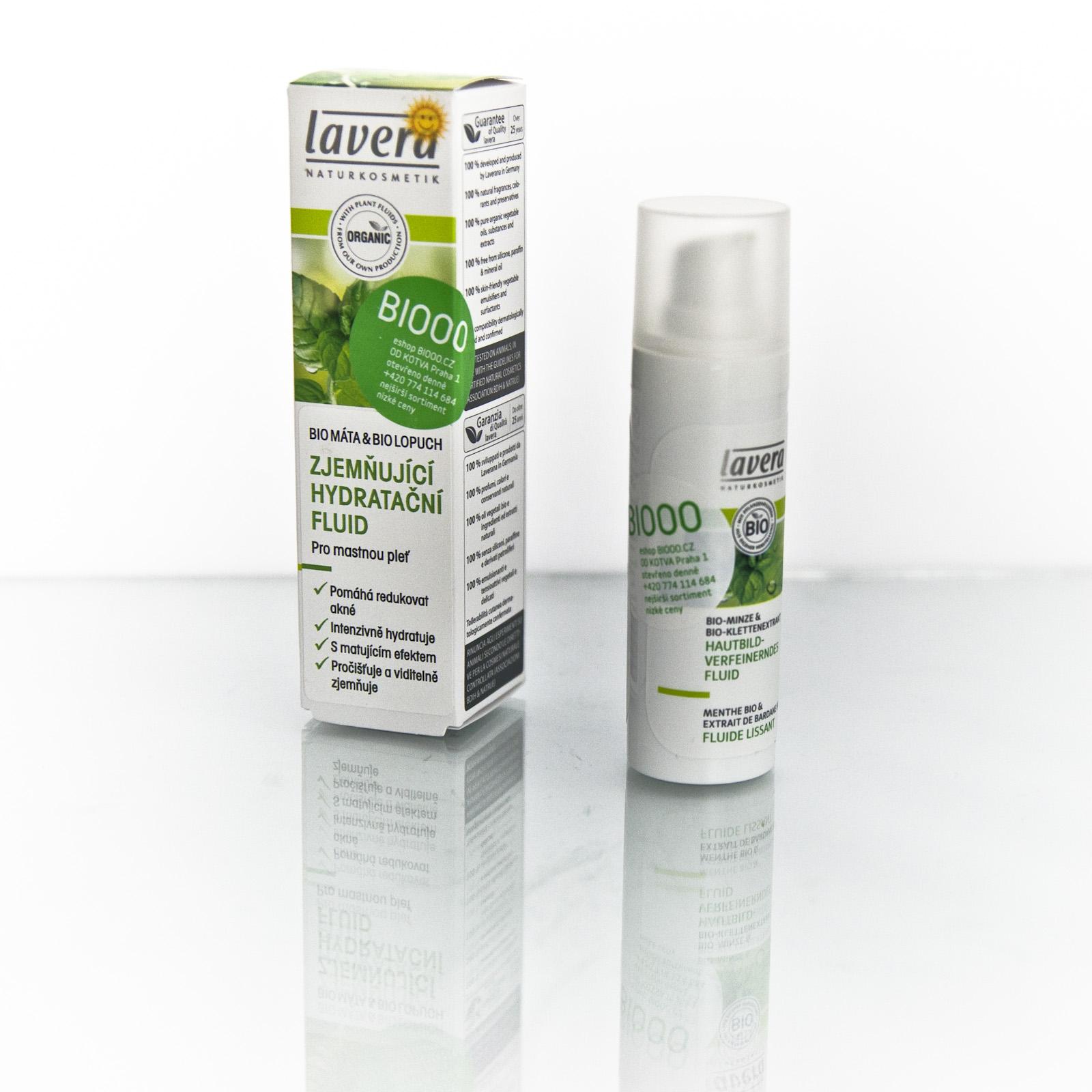 Lavera Hydratační fluid zjemňující Máta & Lopuch, Faces 30 ml