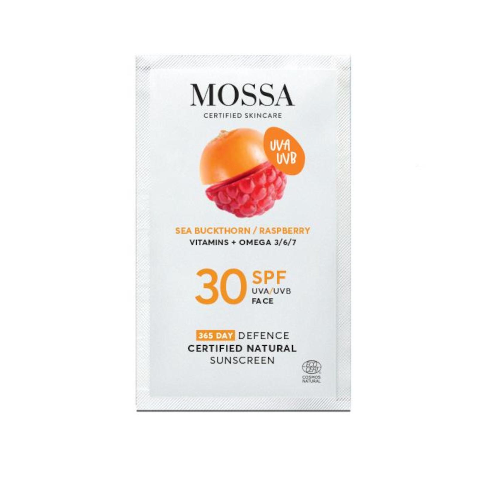 MOSSA Pleťový krém na opalování SPF 30, 365 DAYS DEFENCE 2 ml