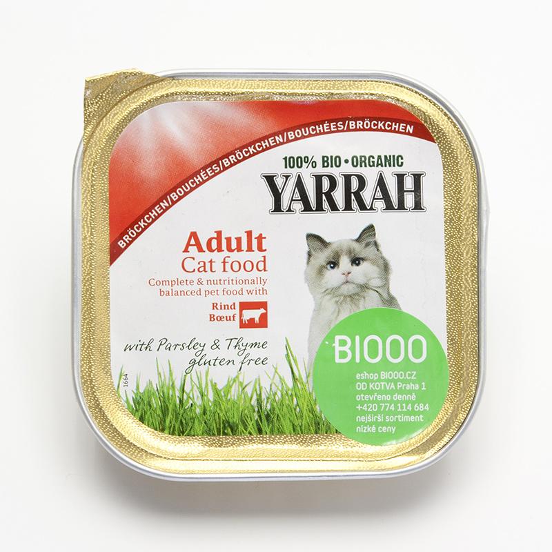 Yarrah Kousky kuřecí a hovězí pro kočky 100 g
