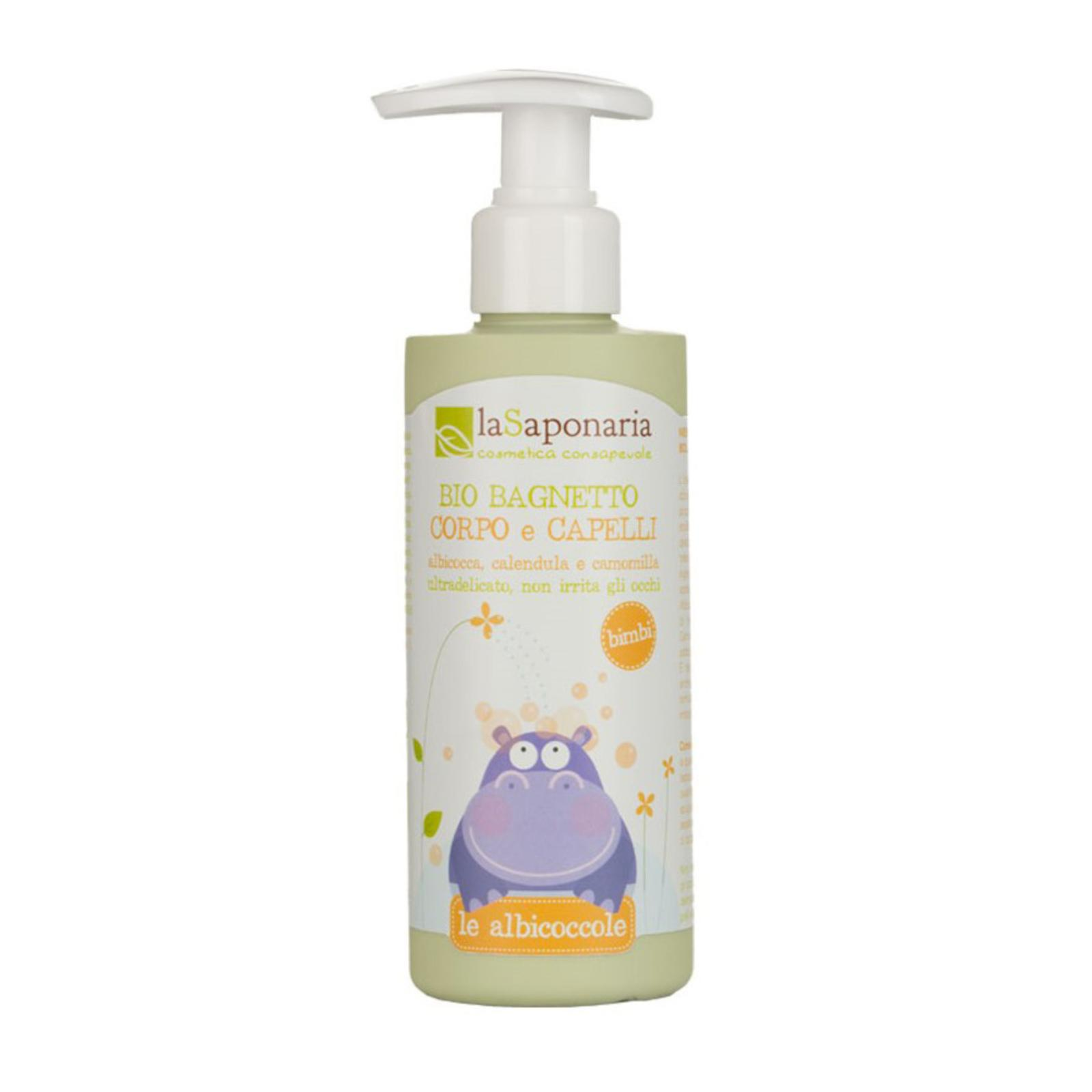 laSaponaria Jemný tělový a vlasový mycí gel pro děti BIO 200 ml
