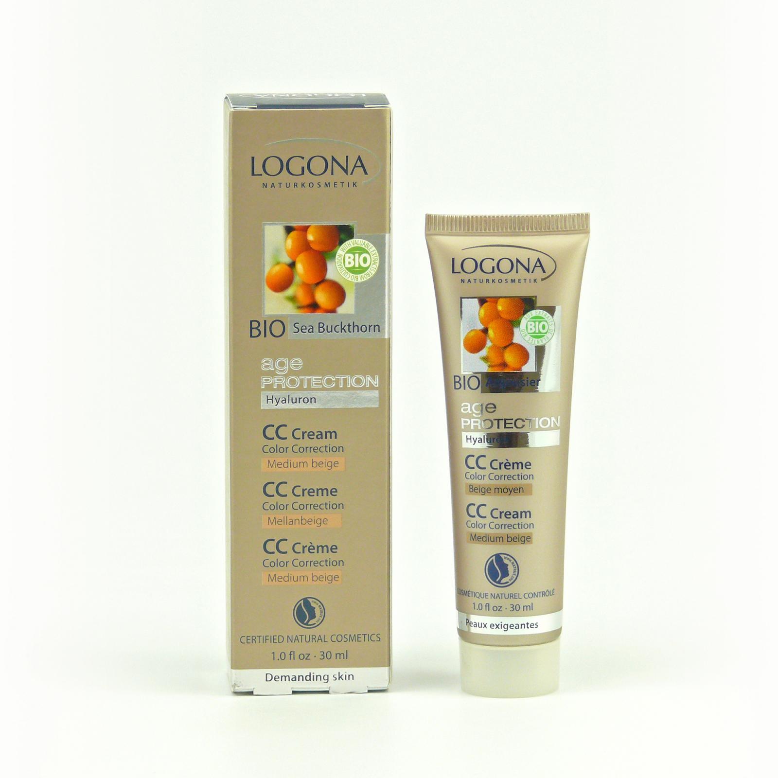 Logona CC krém středně béžová, Age Protection 30 ml