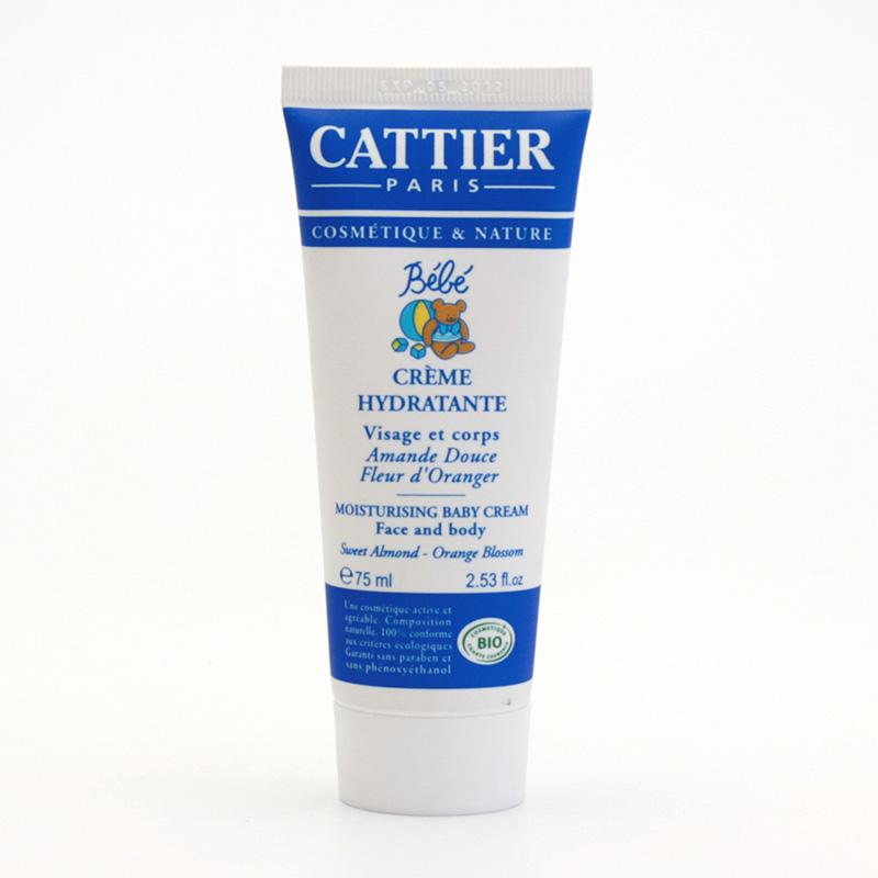 Cattier Hydratační krém na tělo i obličej miminka, bebe 75 ml