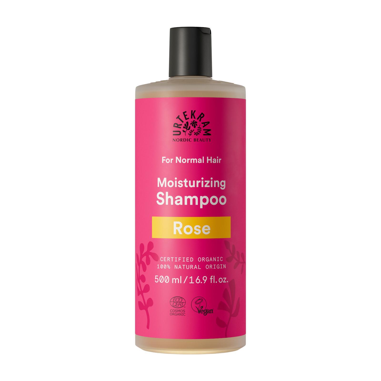 Urtekram Šampon růžový na normální vlasy 500 ml
