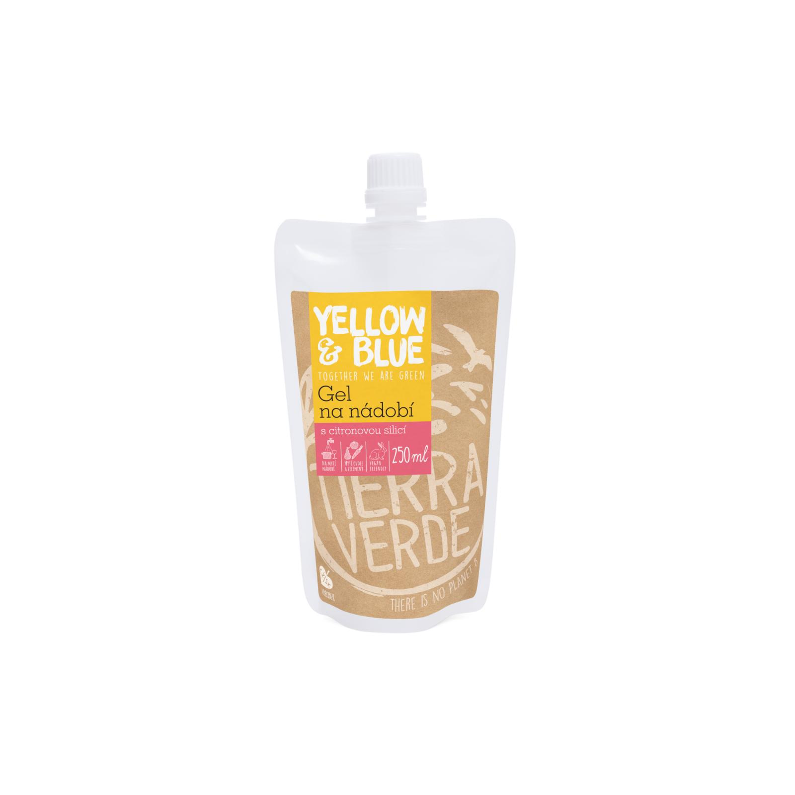 Yellow and Blue Gel na nádobí z mýdlových ořechů 250 ml