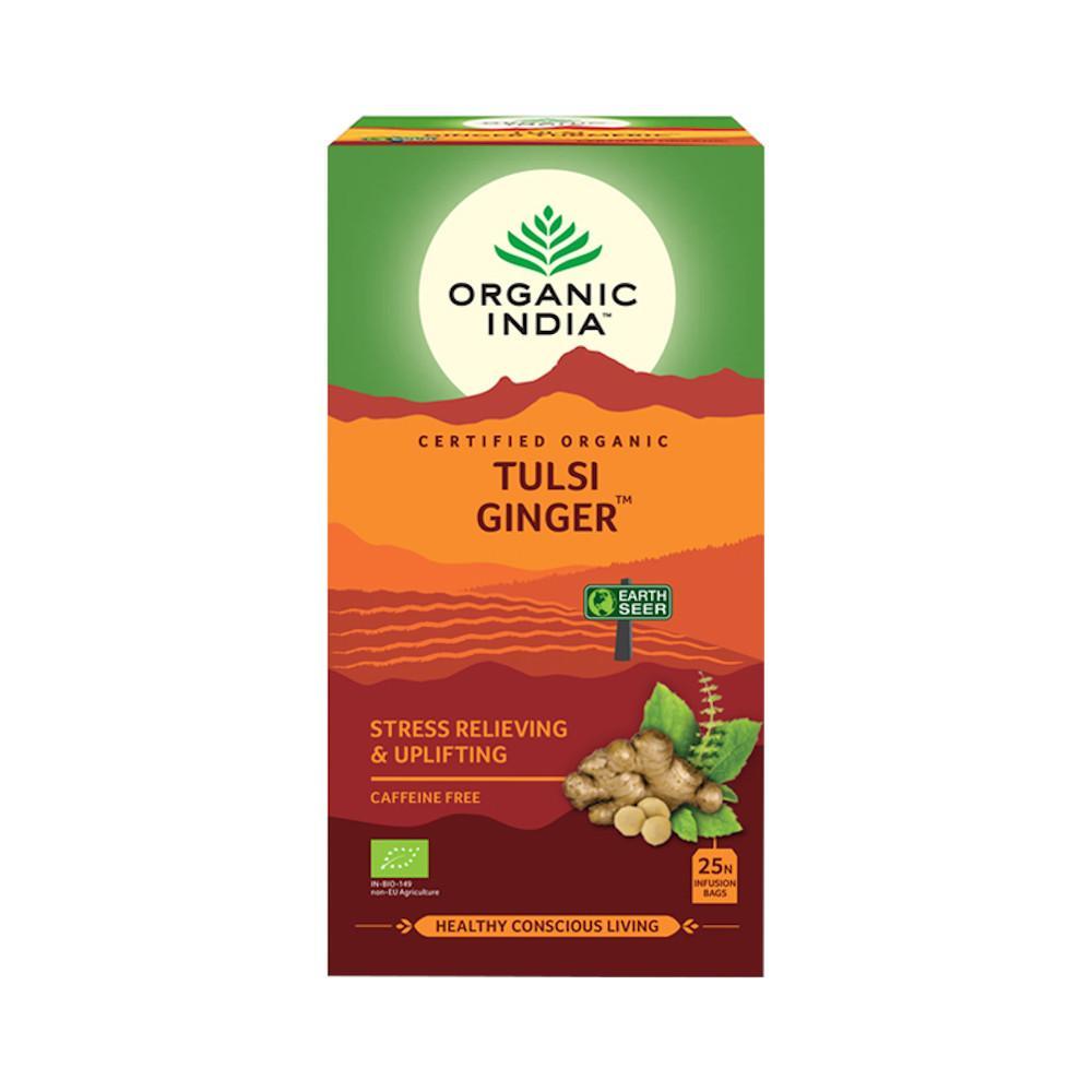 Organic India Čaj Tulsi Ginger, porcovaný 25 ks, 43,5 g
