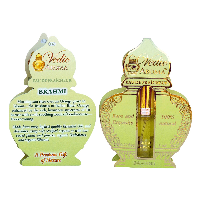 Vedic Aroma Ayurvédská osvěžující voda Brahmi 8 ml, sprej