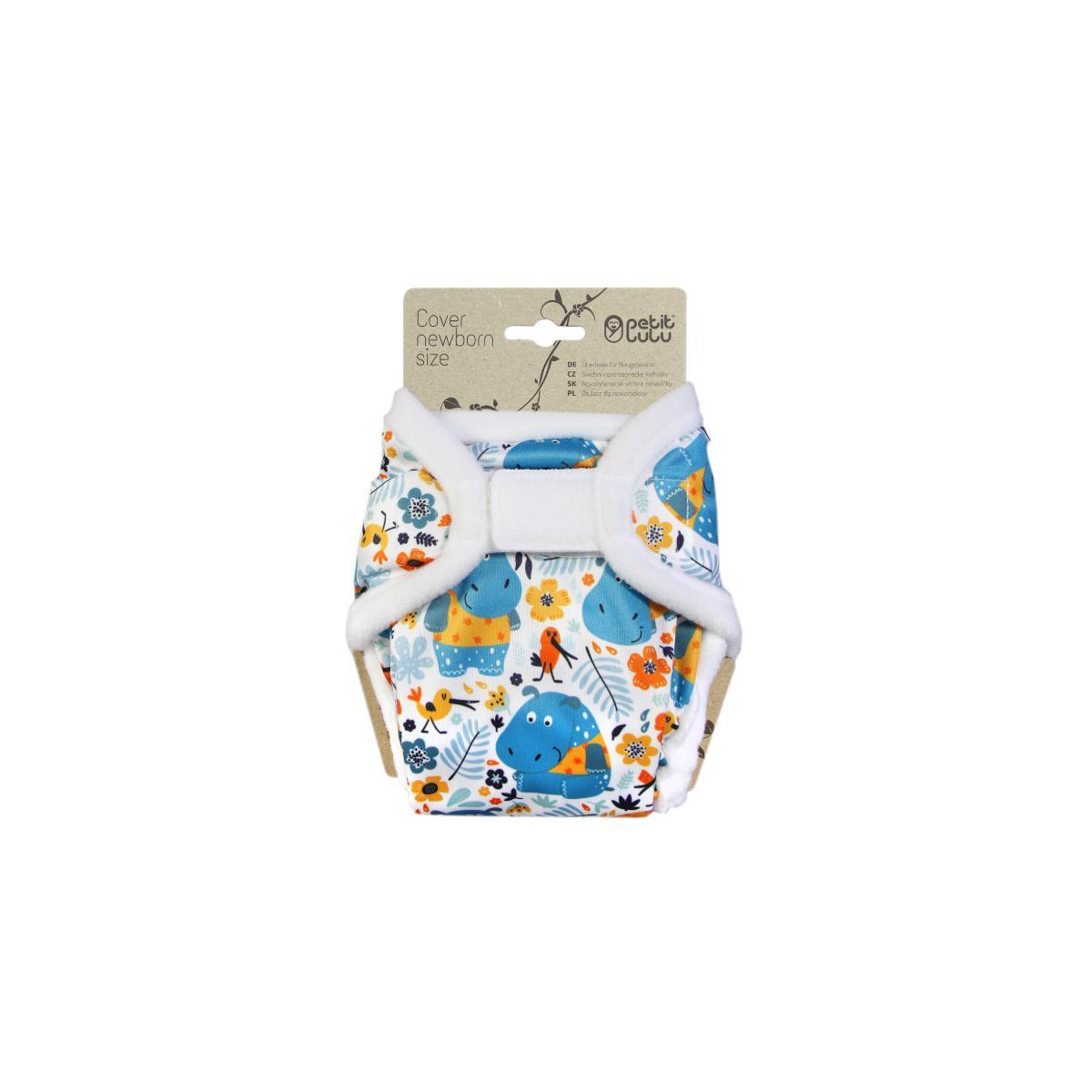 Petit Lulu Novorozenecké svrchní kalhotky 1 ks, Hroši v triku