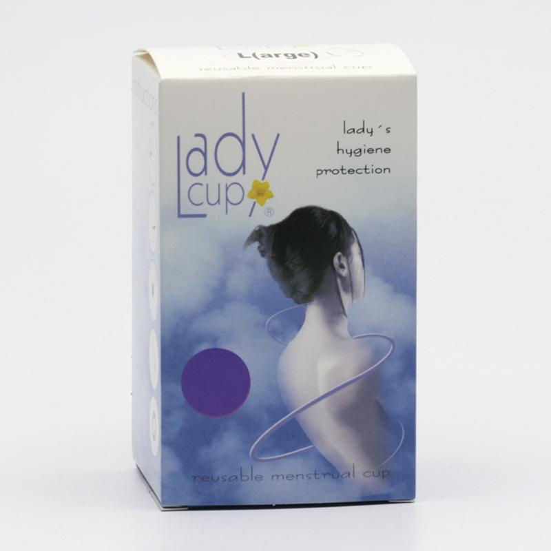 LadyCup Menstruační kalíšek velikost L (větší), fialový 1 ks