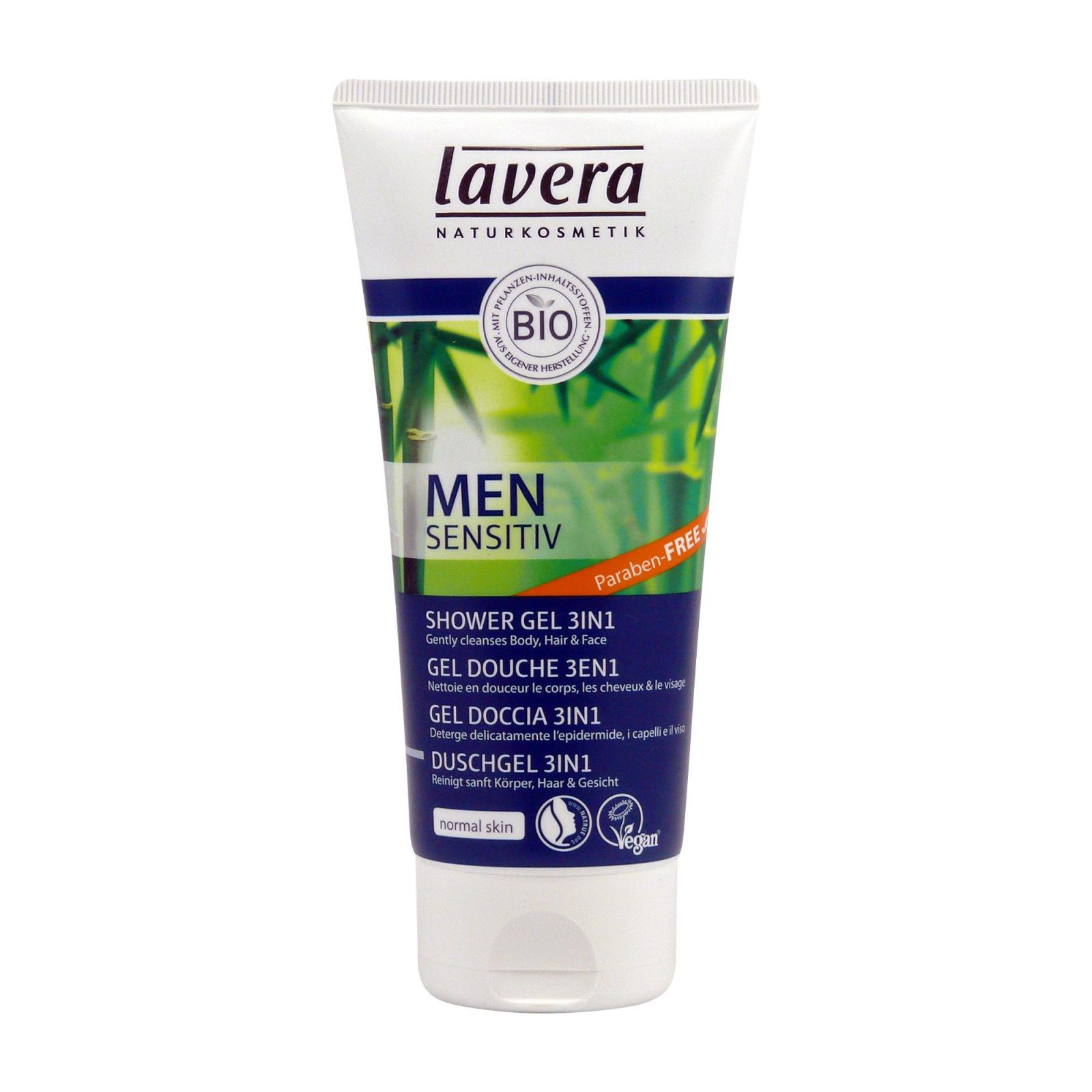 Lavera Tělový a vlasový šampon 3 v 1, Men Sensitiv 200 ml
