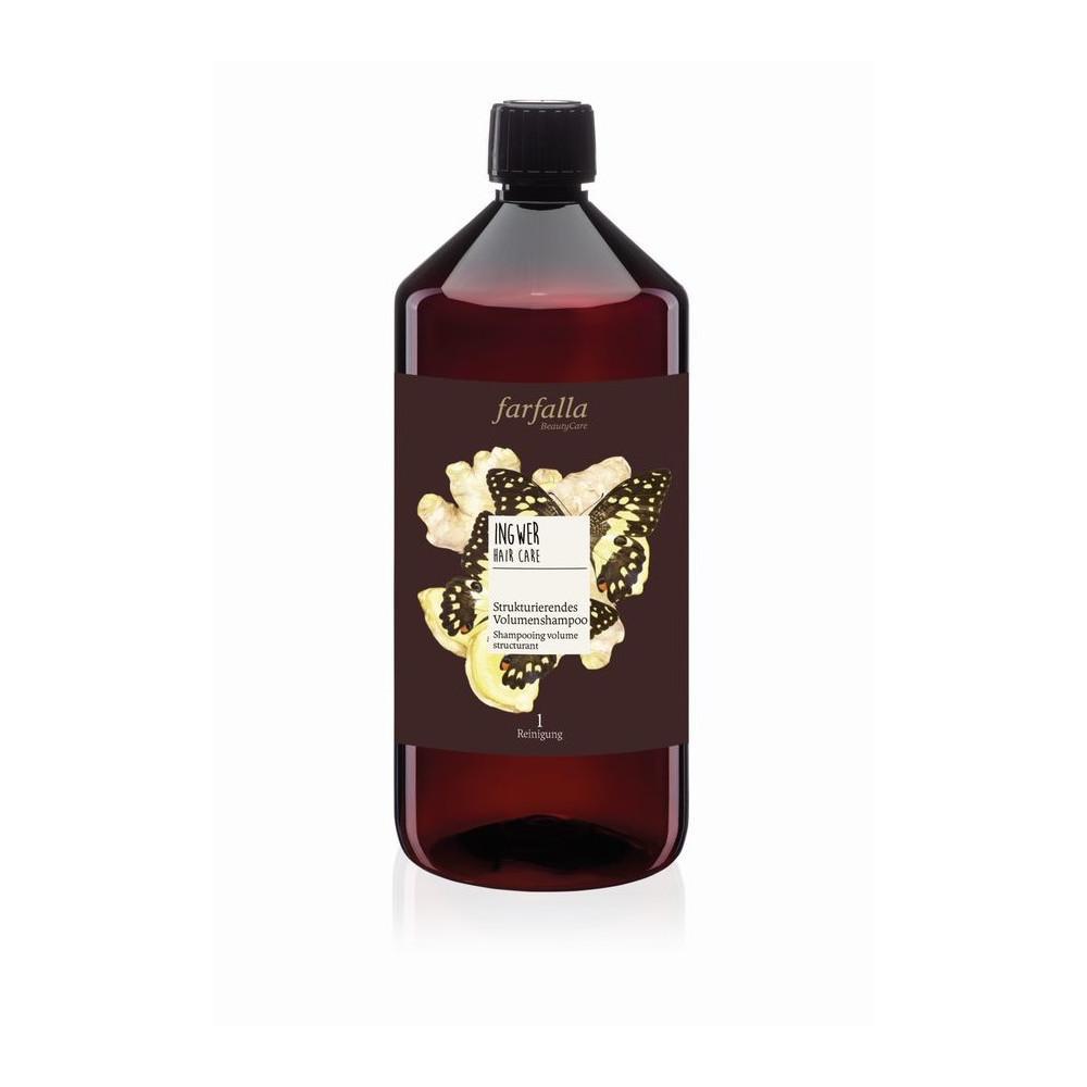 Farfalla Ingwer, Volumen-Shampoo, šampon na objem s vůní zázvoru 1000 ml