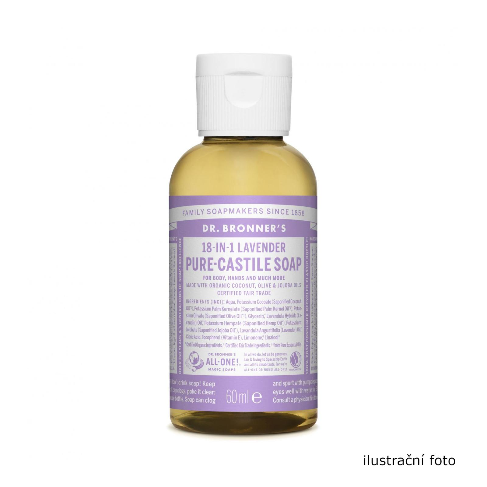 Dr. Bronner's Tekuté universální mýdlo ALL-ONE!, Lavender 10 ml