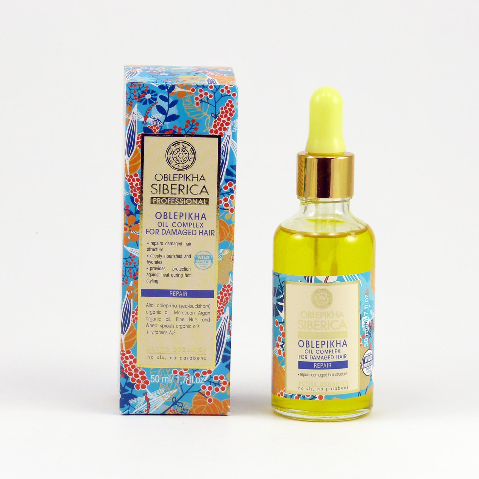 Natura Siberica Směs rakytníku a dalších olejů pro péči o poškozené vlasy 50 ml