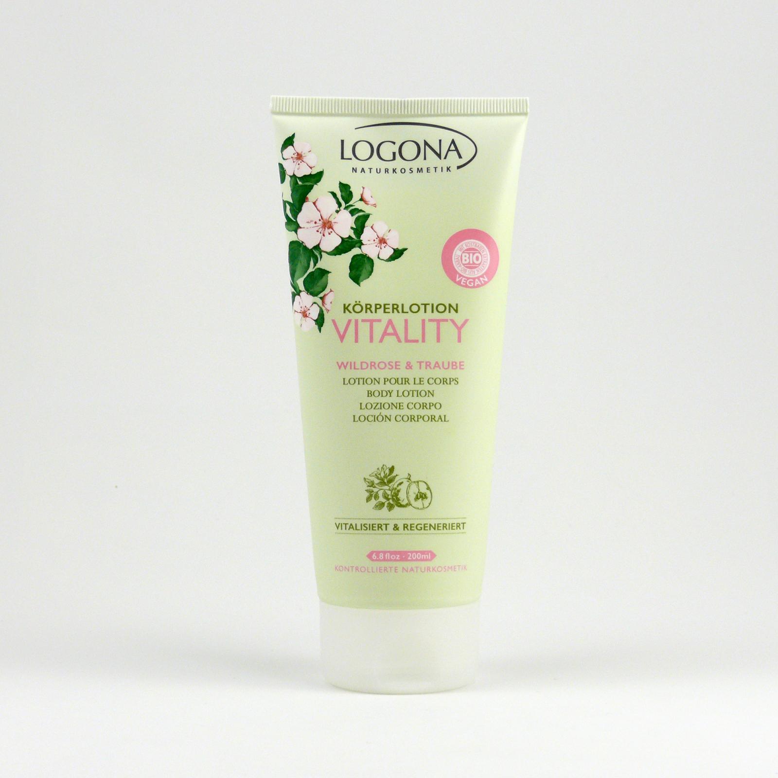 Logona Tělové mléko růže a hrozny, Vitality 200 ml