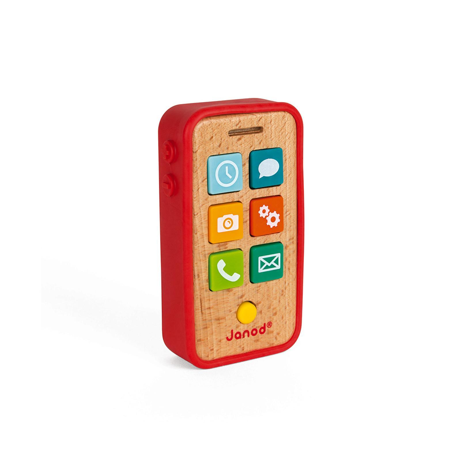 Janod Dětský dřevěný mobil se zvuky od 1 roku 1 ks