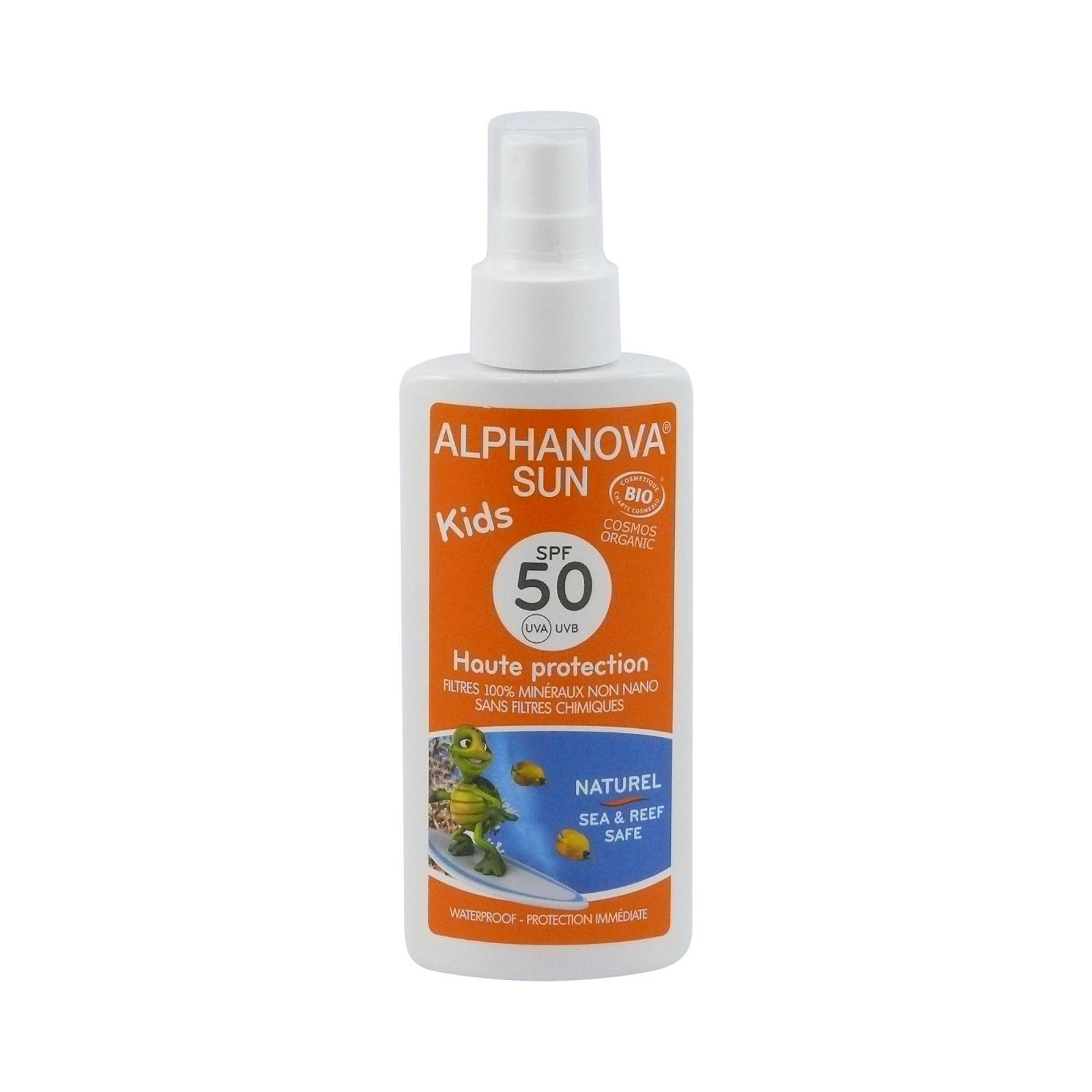 Alphanova Opalovací krém ve spreji pro děti SPF 50 125 g