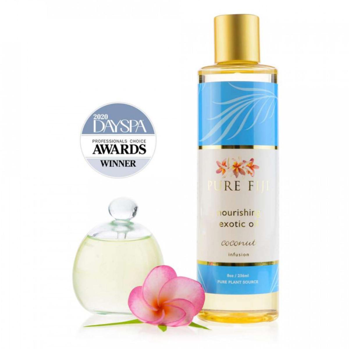 Pure Fiji Exotický masážní a koupelový olej, kokos 236 ml