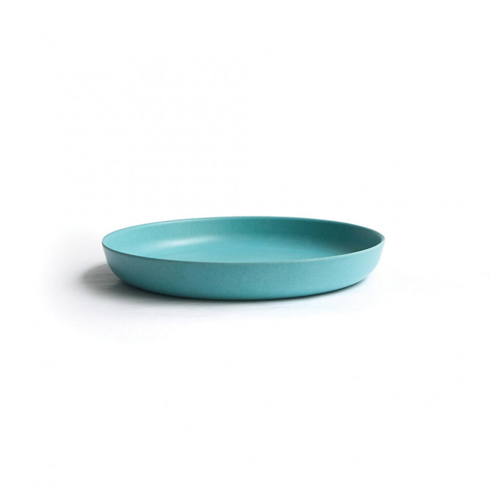 EKOBO Bamboo Small Plate - Lagoon dětský talíř 18x2,5 cm