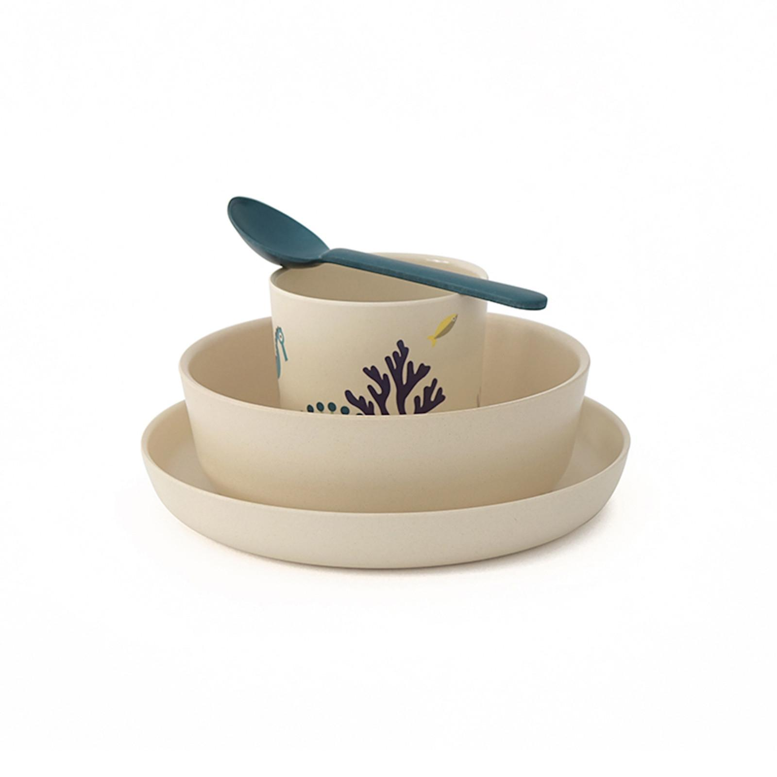 EKOBO Bamboo Kid Set SEAS dětská sada nádobí 4 ks