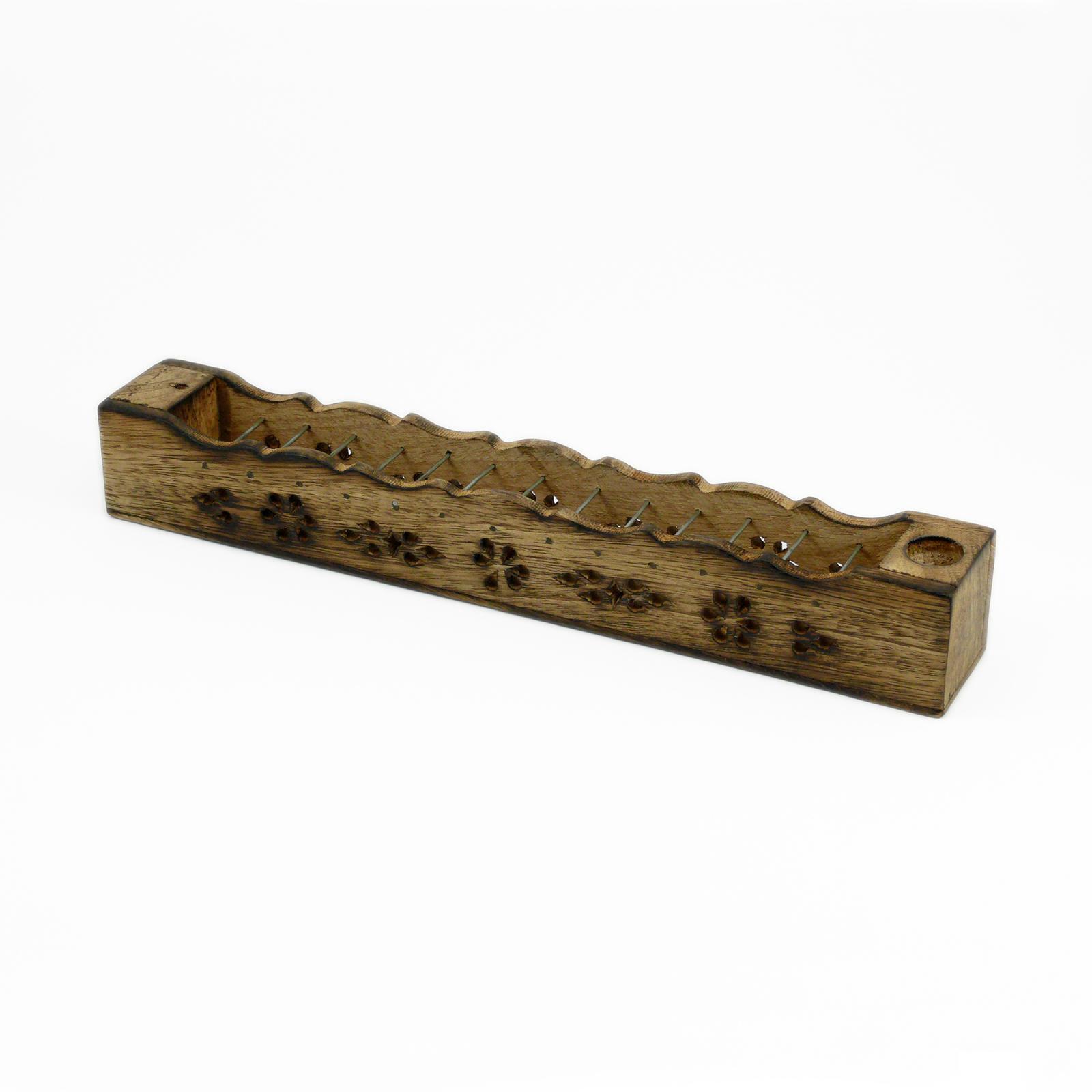ostatní Stojánek dřevěný na tyčinky a jehlánky, truhlička s dráty 1 ks