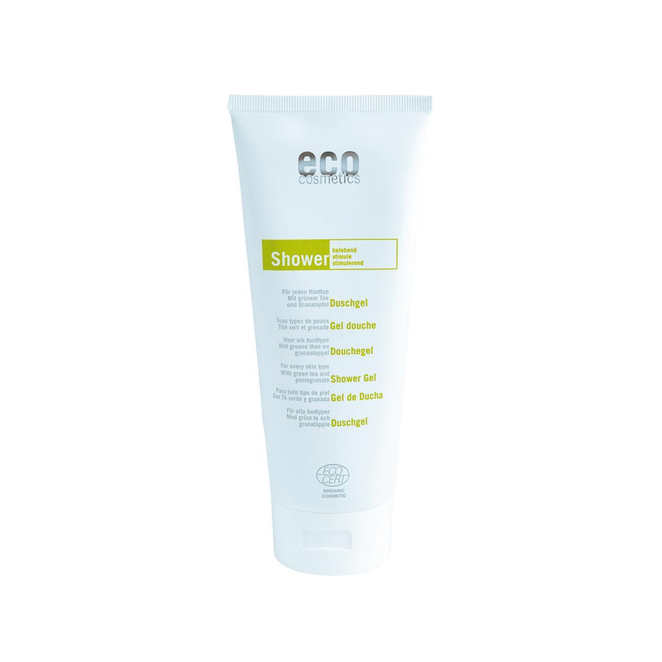 Eco Cosmetics Sprchový gel zelený čaj/granátové jablko 200 ml