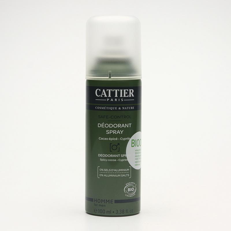 Cattier Deodorant pánský, kakao a cypřiš 100 ml