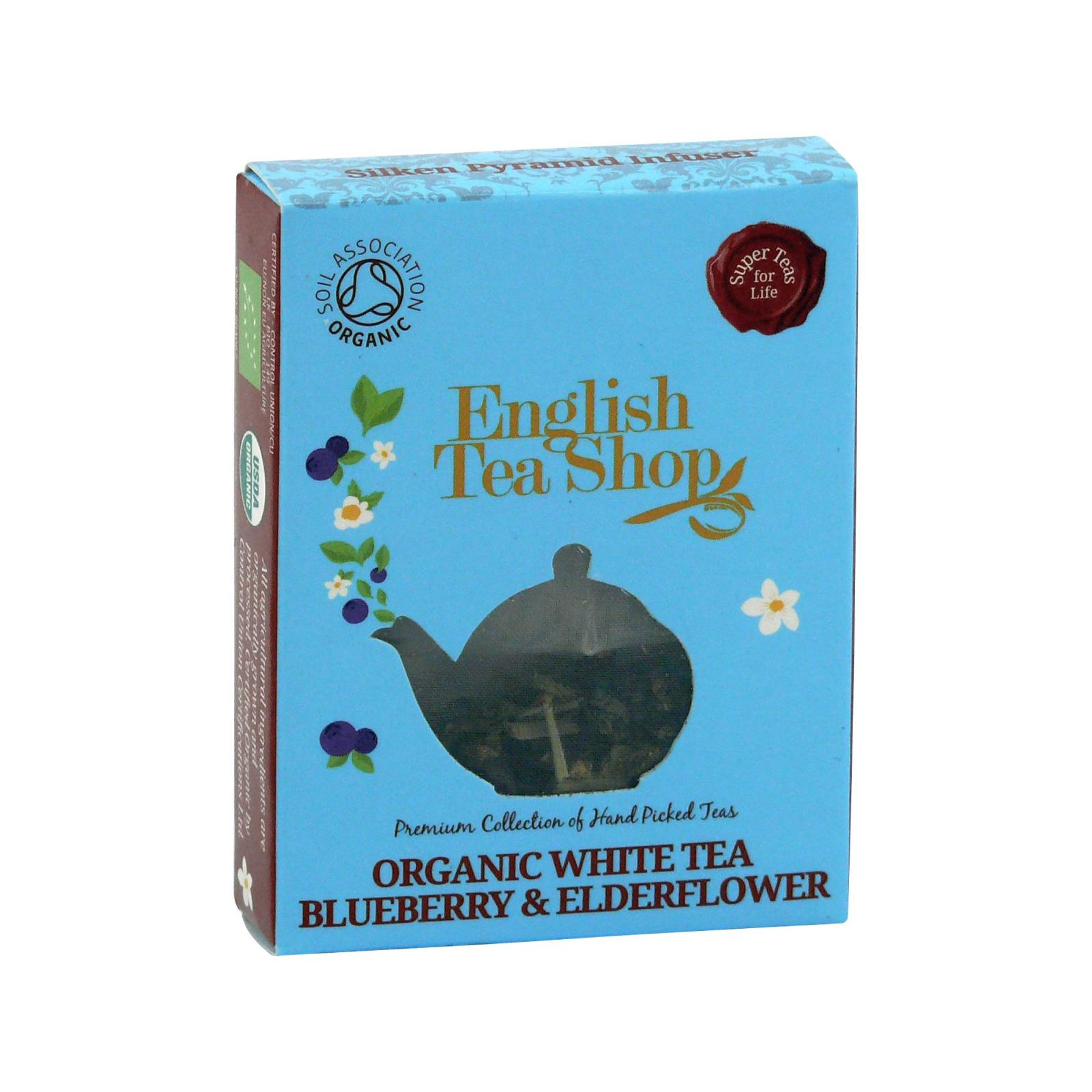 English Tea Shop Bílý čaj borůvka a bezový květ 1 ks, 9 g