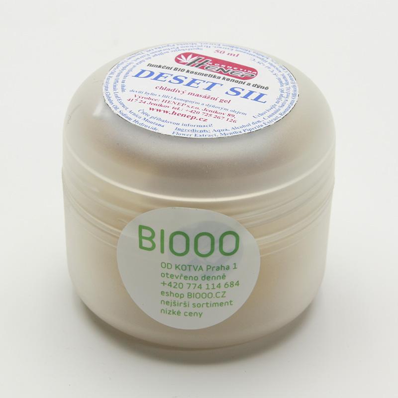 Henep Masážní gel konopný chladivý Deset sil, cestovní 50 ml