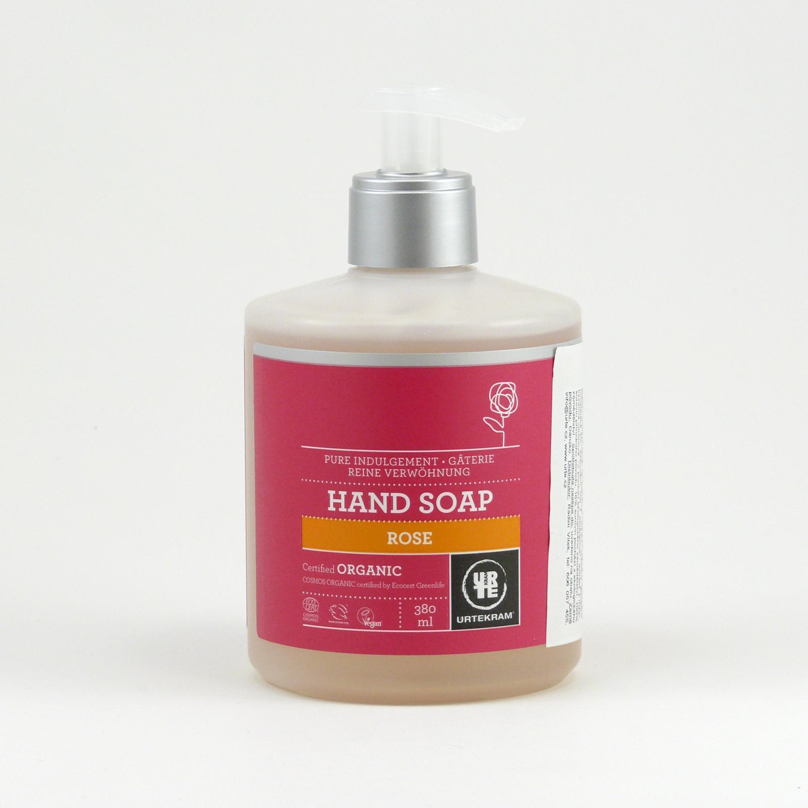 Urtekram Tekuté mýdlo na ruce růžové 380 ml