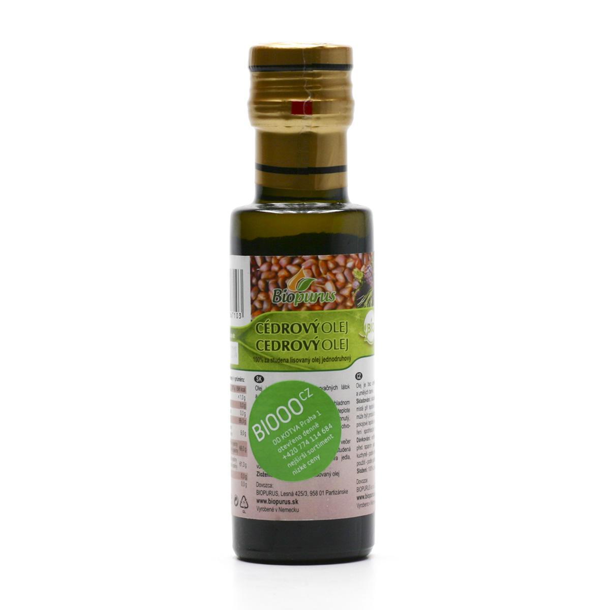 Biopurus Cedrový olej bio 100 ml