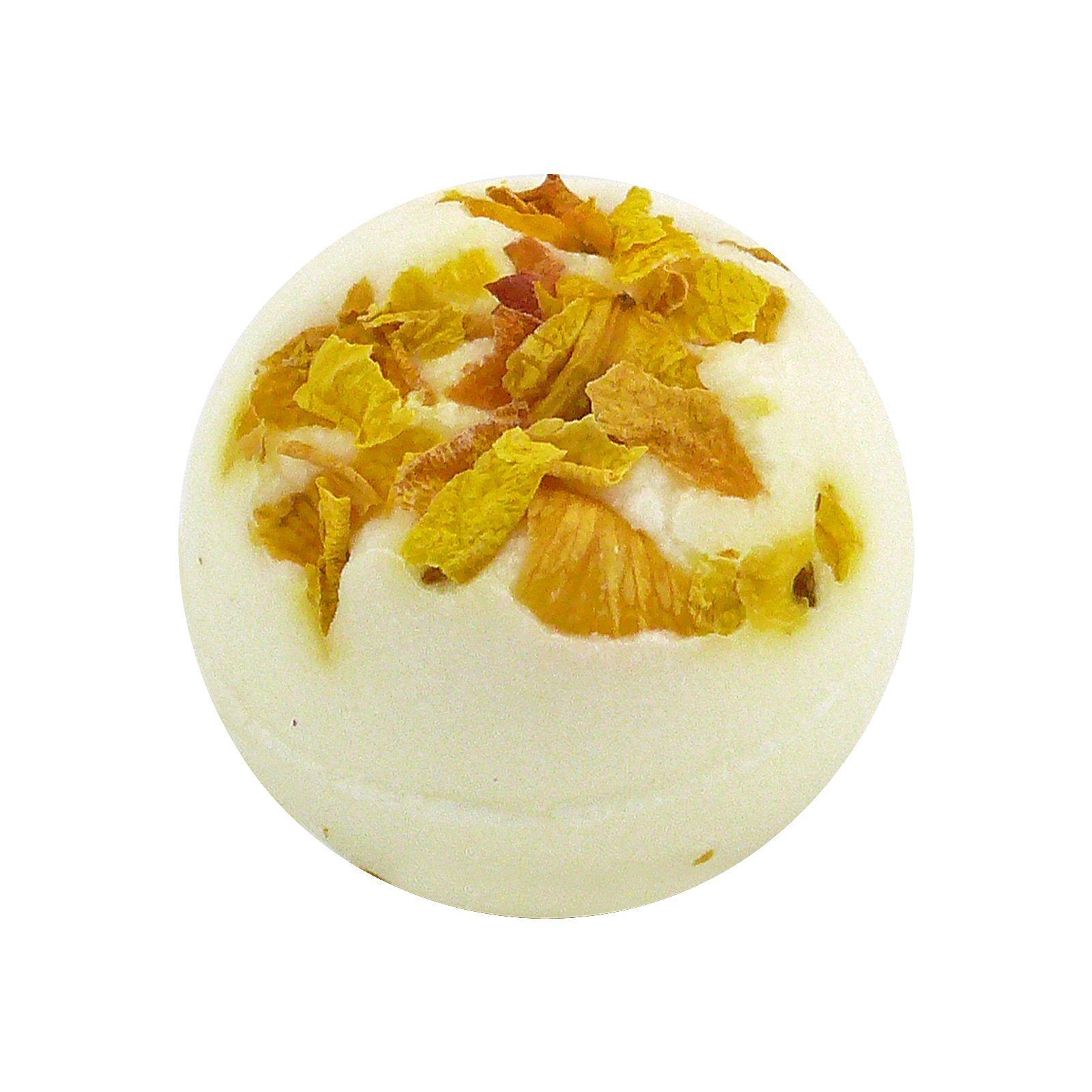 Ceano Cosmetics Krémová kulička do koupele žlutá růže 50 g,1 ks