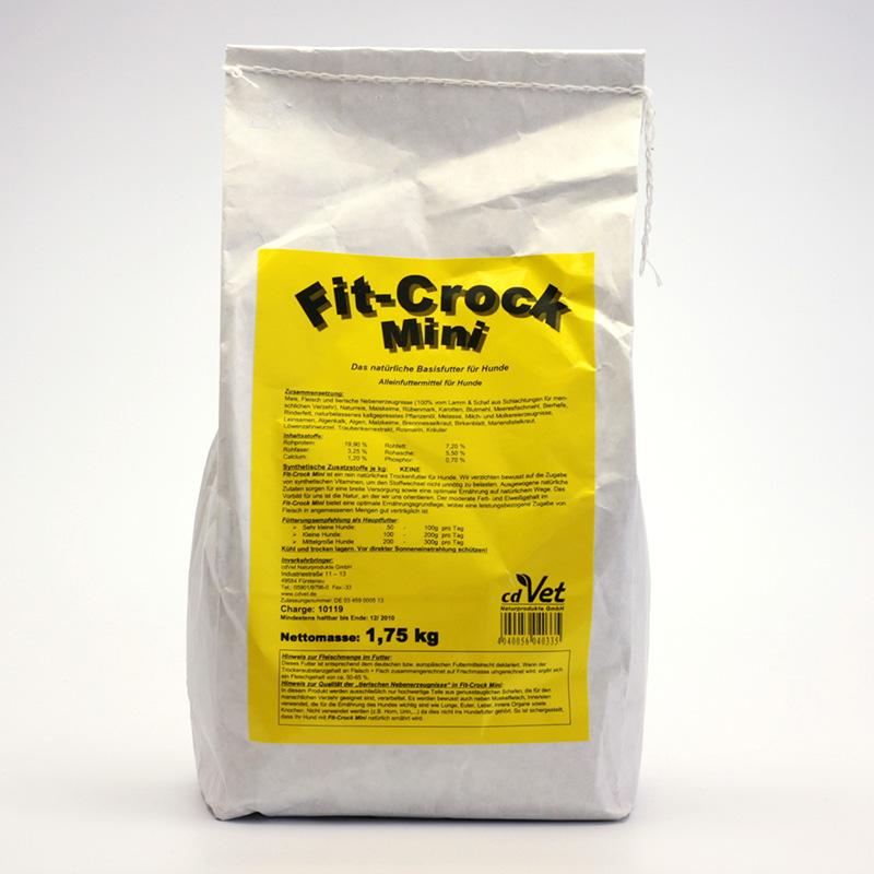 CdVet Lisované krmivo Fit-Crock Classic Mini 1,75 kg