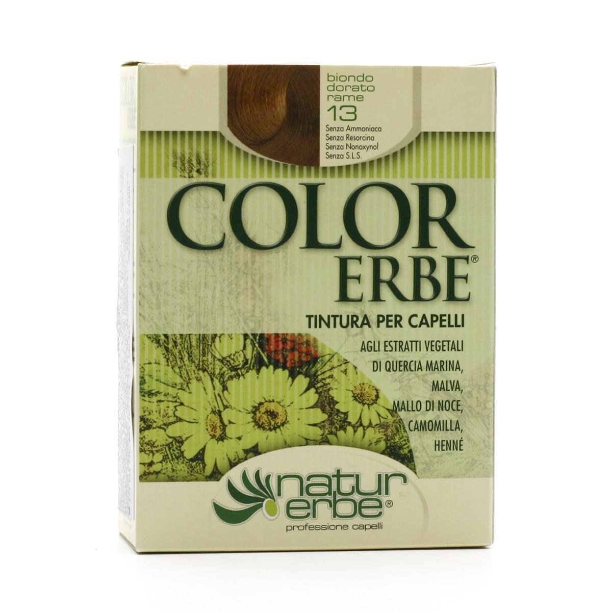 Color Erbe Barva na vlasy Zlatavě měděná blond 13, Natur 135 ml