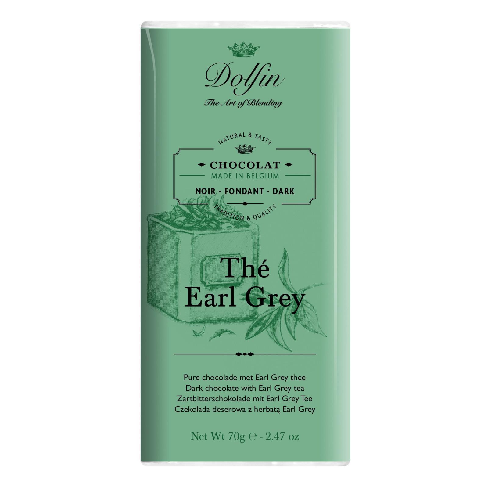 Dolfin Čokoláda hořká s čajem Earl Grey 70 g